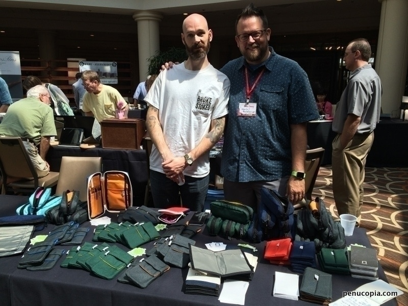 Brad Dowdy and Jeff Bruckwicki at the DC Pen Show